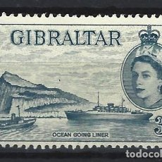 Sellos: GIBRALTAR 1953 - REINA ISABEL II - SELLO USADO. Lote 166680362