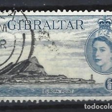 Sellos: GIBRALTAR 1953 - REINA ISABEL II - SELLO USADO. Lote 166680442