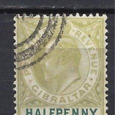 Sellos: GIBRALTAR 1904-08 - REY EDUARDO VII - SELLO USADO. Lote 166715634