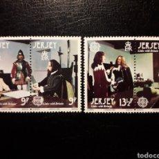 Sellos: JERSEY (GRAN BRETAÑA) YVERT 213/6 SERIE COMPLETA NUEVA ***. EUROPA CEPT. PINTURAS. PERSONAJES. Lote 166737658
