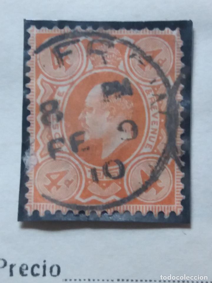 GRAN BRETAÑA, 4 D,, REY EDUARDO VII, 1912. (Sellos - Extranjero - Europa - Gran Bretaña)