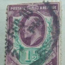 Sellos: GRAN BRETAÑA, 1,1/2 D, REY EDUARDO VII, 1889.. Lote 166943504