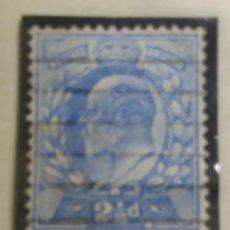 Sellos: GRAN BRETAÑA, 2,1/2 D, REY EDUARDO VII, 1902.. Lote 166945908