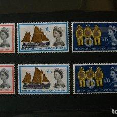 Sellos: GRAN BRETAÑA-1963-Y&T 375/7(NORMAL)+375A/7A(FOSFORO)**(MNH). Lote 168246492