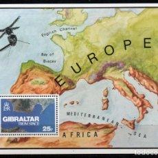Sellos: GIBRALTAR AÑO 1978 YV HB 5*** GIBRALTAR VISTO DESDE EL ESPACIO - MAPAS. Lote 168643792