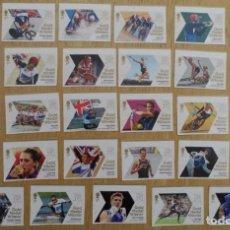 Sellos: GRAN BRETAÑA 2012 GANADORES DE MEDALLAS JUEGOS OLÍMPICOS LONDRES SET 29V MNH SG 3342-70 YV 3687-715. Lote 171795168