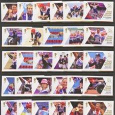 Sellos: GRAN BRETAÑA 2012 GANADORES DE MEDALLAS JUEGOS PARAOLIÍMPICOS LONDRES SET 34V SG 3372-405 YV 3720-53. Lote 171795320