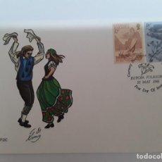 Sellos: SOBRE MATASELLOS ESPECIAL GUERNSEY TEMA EUROPA. Lote 171996754