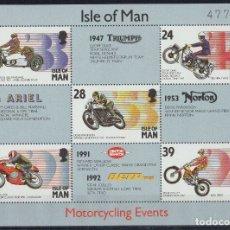 Sellos: ISLA DE MAN 1993 HB IVERT 21 *** EVENTOS MOTOCICLISTAS - DEPORTES - MOTOS. Lote 172067878
