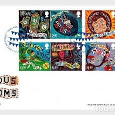 Sellos: GREAT BRITAIN 2019 - CURIOUS CUSTOMS FDC. Lote 172258259