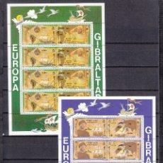 Sellos: GIBRALTAR 647/50 MINIPLIEGO SIN CHARNELA, TEMA EUROPA 1992, BARCO, V CENTº DESCUBRIMIENTO DE AMERICA. Lote 172305617