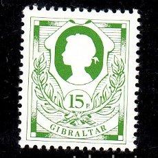 Sellos: GIBRALTAR 435 DE CARNET SIN CHARNELA, ISABEL II. Lote 172306108