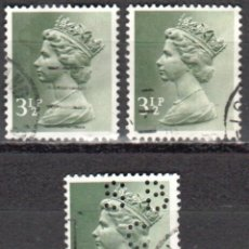 Sellos: REINO UNIDO - TRES SELLOS - IVERT#GB-611 - ***REINA ELIZABETH II - DECIMAL*** - AÑO 1971 - USADOS. Lote 175251318