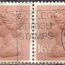 Sellos: REINO UNIDO - DOS SELLOS - IVERT#GB-1019 - ***REINA ELIZABETH II - DECIMAL*** - AÑO 1982 - USADOS. Lote 175279587
