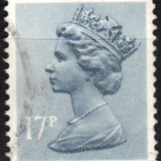 Sellos: REINO UNIDO - UN SELLO - IVERT#GB-1077 - ***REINA ELIZABETH II - DECIMAL** - AÑO 1983 - USADO. Lote 175298938