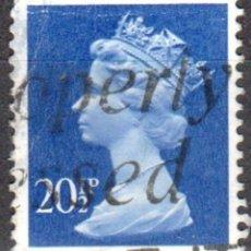 Sellos: REINO UNIDO - UN SELLO - IVERT#GB-1078 - ***REINA ELIZABETH II - DECIMAL** - AÑO 1983 - USADO. Lote 175298983