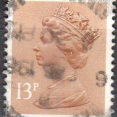 Sellos: REINO UNIDO - UN SELLO - IVERT#GB-1140 - ***REINA ELIZABETH II - DECIMAL*** - AÑO 1984 - USADO. Lote 175299318