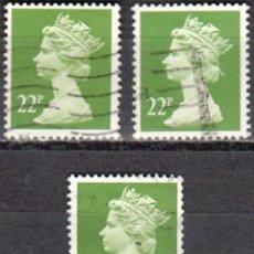 Sellos: REINO UNIDO - TRES SELLOS - IVERT#GB-1142 - ***REINA ELIZABETH II - DECIMAL*** - AÑO 1984 - USADOS. Lote 175299678