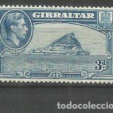 Francobolli: GIBRALTAR YVERT NUM. 107 * NUEVO CON FIJASELLOS. Lote 177638578
