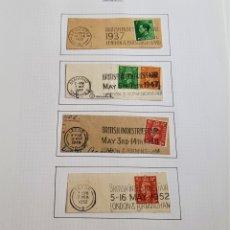 Sellos: 1937-1952 HOJA CON SELLOS GRAN BRETAÑA. Lote 177719972