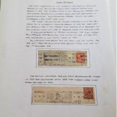 Sellos: 1918-1947 HOJA CON SELLOS GRAN BRETAÑA. Lote 177720103
