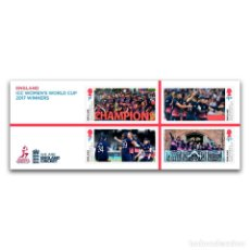 Sellos: GREAT BRITAIN 2019 - ICC WOMEN'S WORLD CUP 2017 - MINIATURE SHEET. Lote 179193508