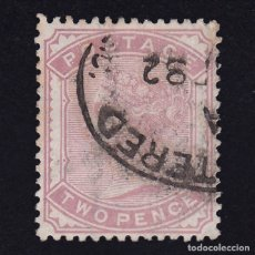 Sellos: GB.1880. Q.V. SG.168. 2D.PALE ROSE. USED. COMBINED SHIPPING. Lote 180840455