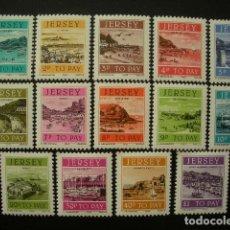 Sellos: JERSEY 1982 TASA IVERT 33/46 *** - VISTAS DE JERSEY. Lote 181755340