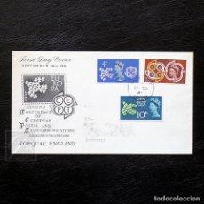 Sellos: GRAN BRETAÑA 1961 ~ EUROPA CEPT PALOMA ~ SPD CIRCULADO. Lote 129191235