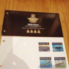 Sellos: CARPETA DE GIBRALTAR ROYAL AIR FORCE SQUADRONS IV 2015. Lote 184740131