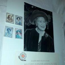 Sellos: EDICIÓN ESPECIAL CONMEMORATIVA REINA MADRE ELIZABETH LONDON PICTURE SERVICE. Lote 184780097