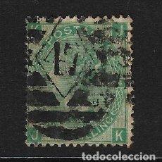 Sellos: GRAN BRETAÑA - CLÁSICO. YVERT Nº 37 PLANCHA Nº 4 USADO. Lote 187443215