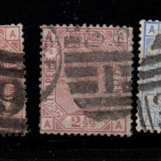Sellos: GRAN BRETAÑA 55/57 - AÑO 1875 - REINA VICTORIA. Lote 188488917