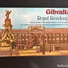 Sellos: GIBRALTAR 1978 25 ANIVERSARIO. CARNET. Lote 188505282
