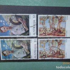 Sellos: 4 SELLOS AUSTRALIA VALOE 1 Y 2 $ , USADOS BONITOS,. Lote 191568926