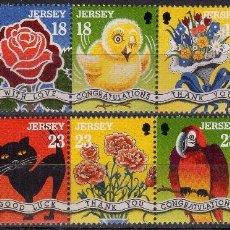 Sellos: JERSEY 1995 IVERT 673/81 *** SELLOS DE SALUDOS. Lote 191585306