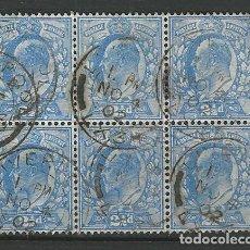 Francobolli: GRAN BRETAÑA BLOQUE 6 YVERT 126 USADO L4. Lote 191682125