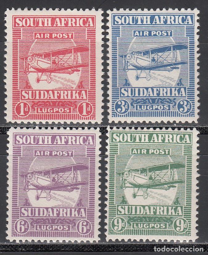 COLONIAS INGLESAS, ÁFRICA DEL SUR, AÉREO 1925 YVERT Nº 1 / 4 /*/ (Sellos - Extranjero - Europa - Gran Bretaña)