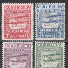 Sellos: COLONIAS INGLESAS, ÁFRICA DEL SUR, AÉREO 1925 YVERT Nº 1 / 4 /*/. Lote 191832227