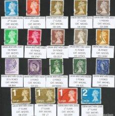 Sellos: REINO UNIDO VARIOS AÑOS - LOTE 19 SELLOS USADOS - TEMA ELIZABETH II. Lote 193765753