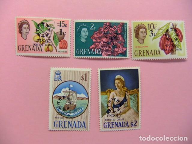 GRENADE GRENADA 1967 EXPO MONTREAL CANADA YVERT 226 / 230 ** MNH (Sellos - Extranjero - Europa - Gran Bretaña)