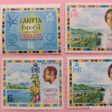 Sellos: GRENADE GRENADA 1969 EXPOSITION CARIFTA YVERT 298 / 301 ** MNH. Lote 194229648