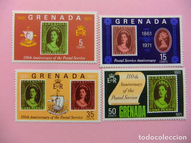 GRENADE GRENADA 1971 110 ANIVERSARIO DE SERVICIO POSTAL YVERT 348 ** MNH (Sellos - Extranjero - Europa - Gran Bretaña)