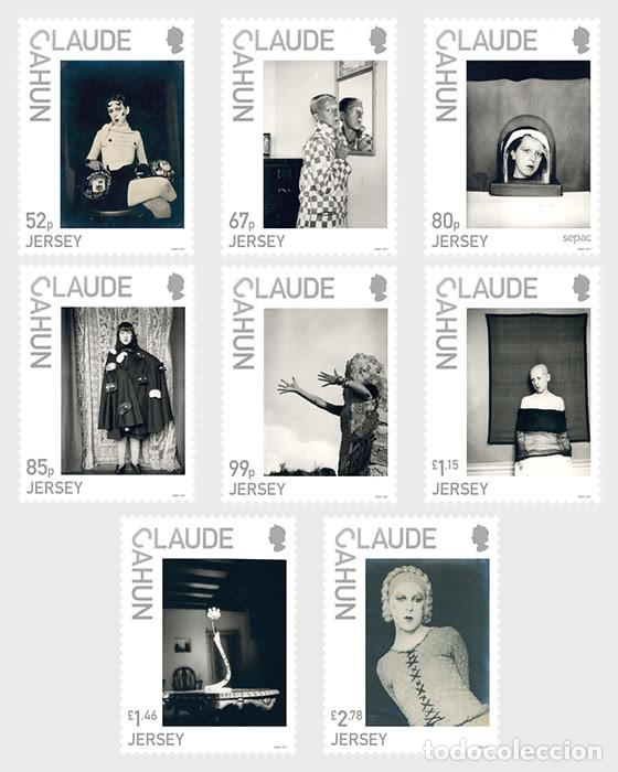 Sellos: Jersey 2020 - Jersey Artists - Claude Cahun stamp set mnh - Foto 1 - 194341867
