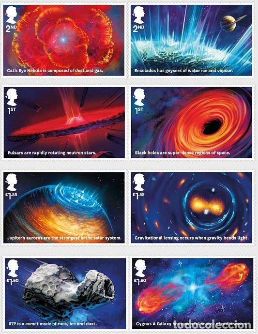 GRAN BRETAÑA 2020 VISIONES DEL UNIVERSO SET DE 8V. MNH SG 4322-29 (Sellos - Extranjero - Europa - Gran Bretaña)
