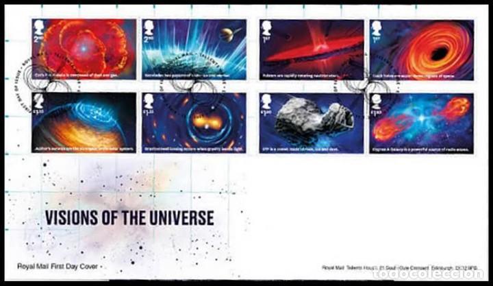 GRAN BRETAÑA 2020 VISIONES DEL UNIVERSO SET DE 8V. FDC SG 4322-29 (Sellos - Extranjero - Europa - Gran Bretaña)