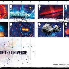 Sellos: GRAN BRETAÑA 2020 VISIONES DEL UNIVERSO SET DE 8V. FDC SG 4322-29. Lote 194492181