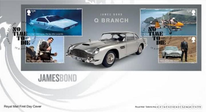 GRAN BRETAÑA 2020 HB JAMES BOND FDC SG MS4336 (Sellos - Extranjero - Europa - Gran Bretaña)