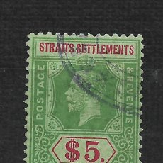 Sellos: STRAITS SETTLEMENTS 1926 SCOTT # 201 A24 $5 GRN & RED,GRN 37.50 - 2/10. Lote 194935702