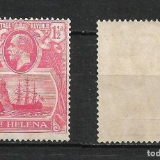 Sellos: ST. HELENA 1922 SCOTT # 76 A10 1 1 / 2 P ROSE RED 12.00 ** - 2/16. Lote 194949847